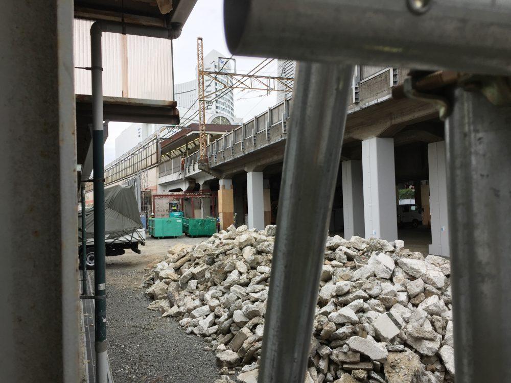 JR桜木町ビルができる前の状態の写真