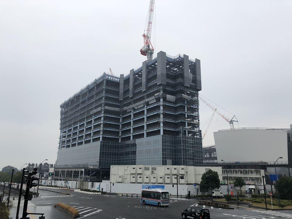 建設中の横浜ベイコート倶楽部 ホテル&スパリゾート