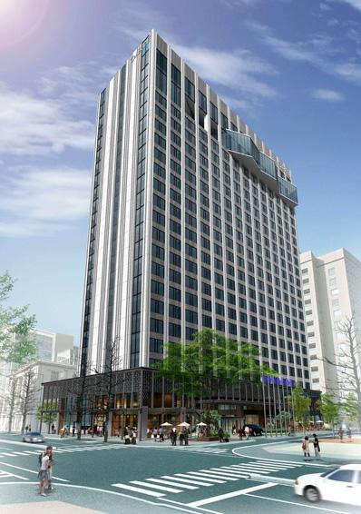 ハイアットリージェンシー横浜ホテルの外観予想図