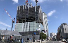 横浜北仲通地区に建設中の横浜新市庁舎
