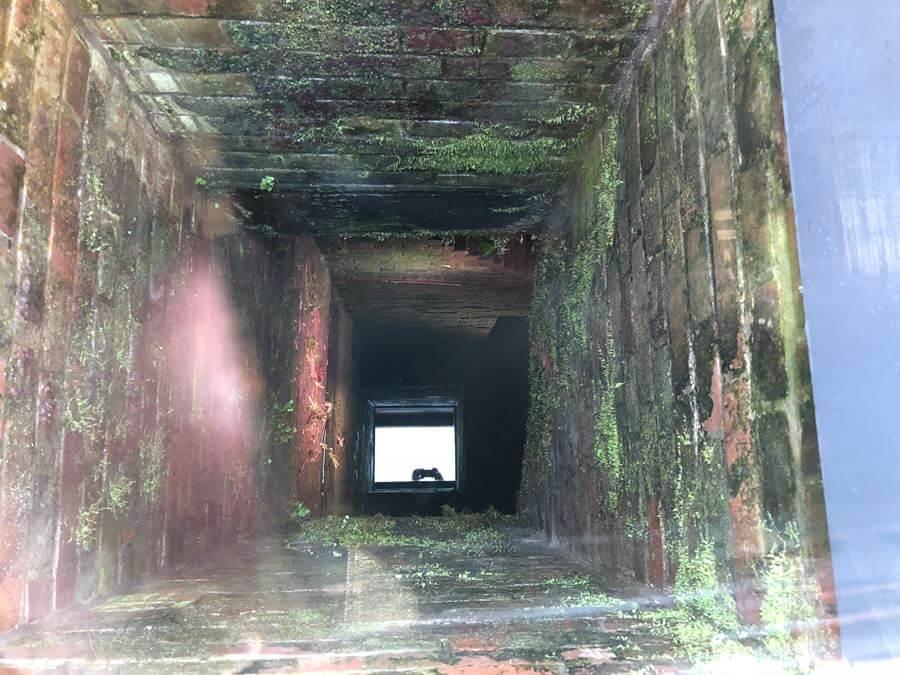 それよりも隣にある『旧居留地消防隊地下貯水槽遺構』を覗くとこんな感じ
