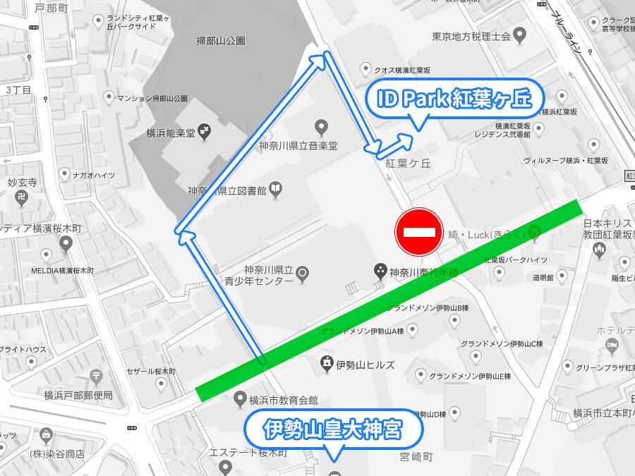 駐車場ID Park紅葉ヶ丘のマップ