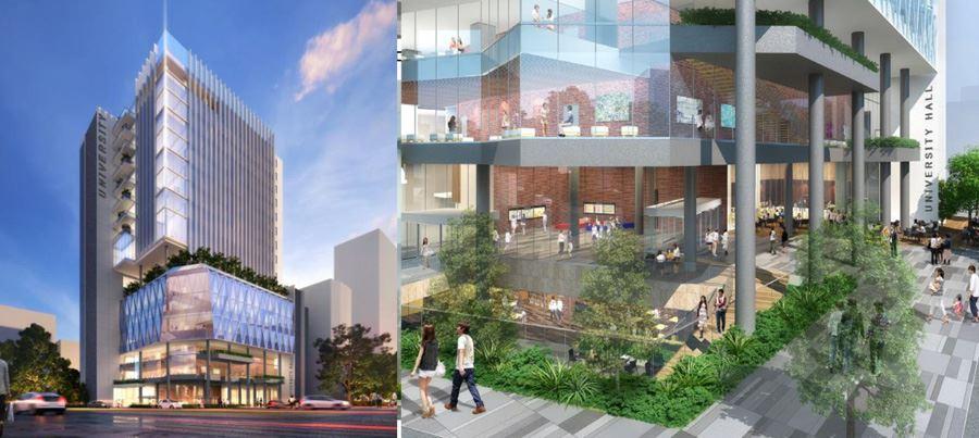 教育文化センター跡地に入る関東学院大学の複合施設