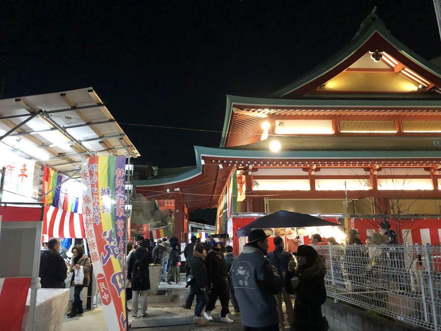 成田山横浜別院延命院、2018年初詣の様子