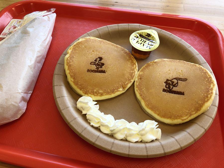 野毛山動物園の屋内休憩所にあるパンケーキ