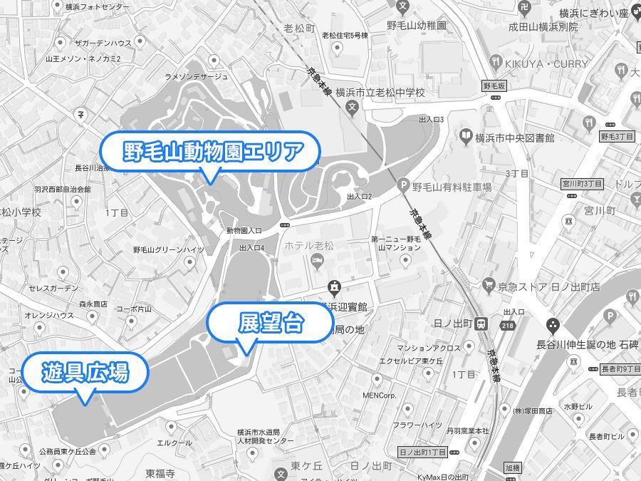 野毛山公園マップ