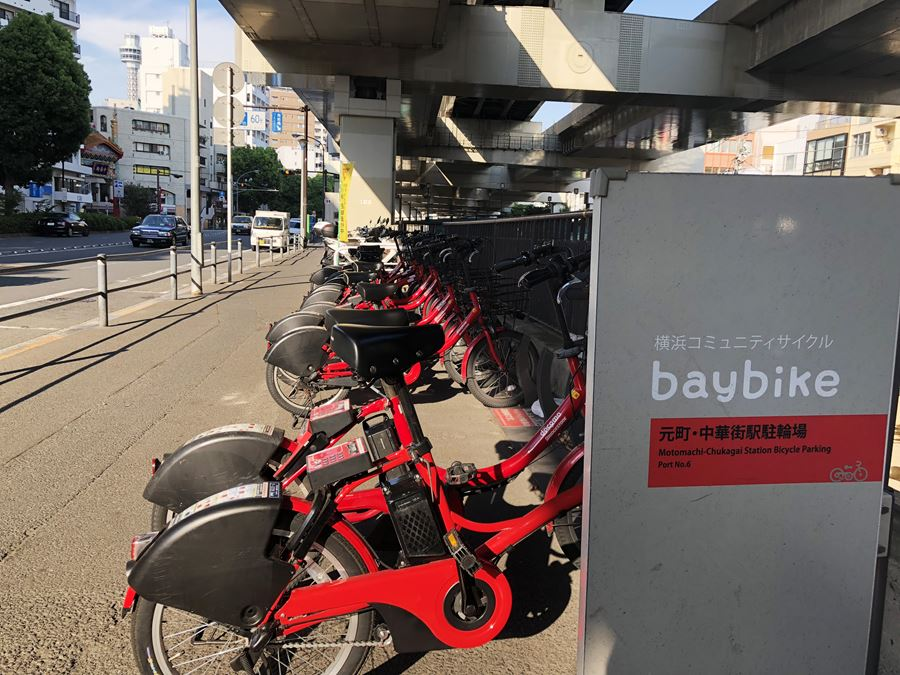baybikeのポートには自転車がすらり。