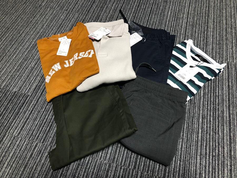 zozotownで買ったシャツとパンツ