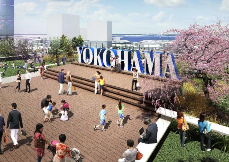JR横浜タワーの12階にできる屋上広場「うみそらデッキ」のイメージ写真
