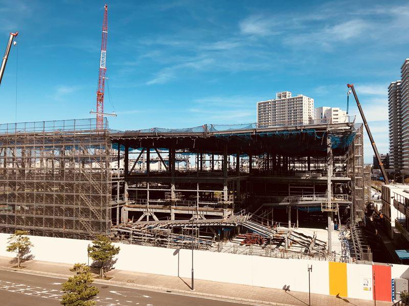 みなとみらいに61街区に建設中の横浜アンパンマンこどもミュージアム