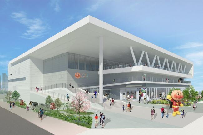 横浜アンパンマンこどもミュージアムの完成予想図