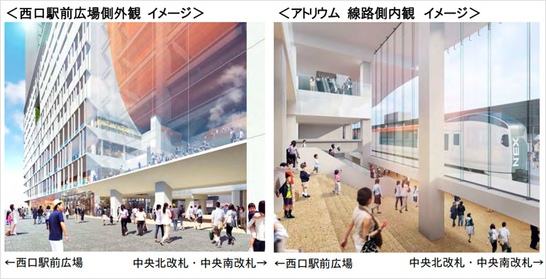 (仮称)横浜駅西口駅ビル計画の内観イメージ写真