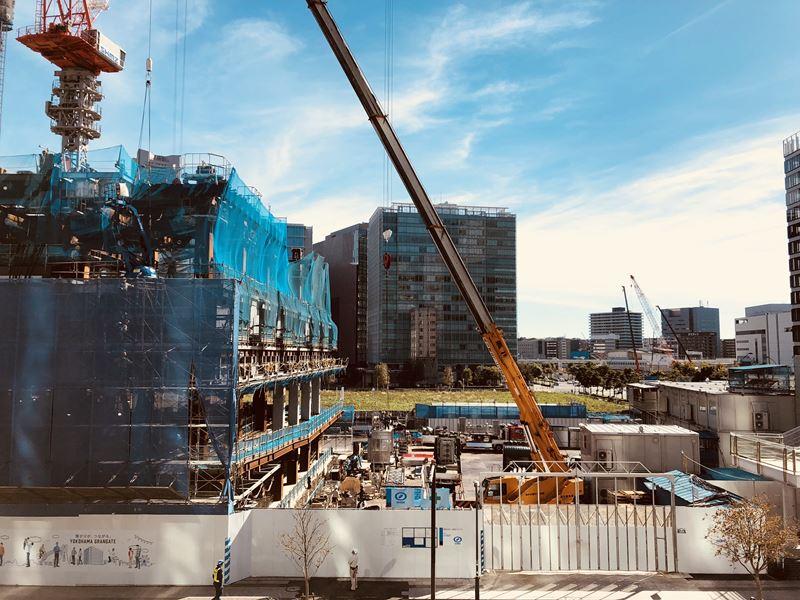 横浜グランゲート建設工事の様子(2018年10月)