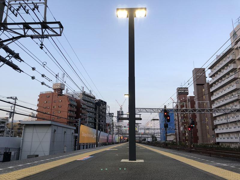相鉄線平沼橋駅のホームからの写真