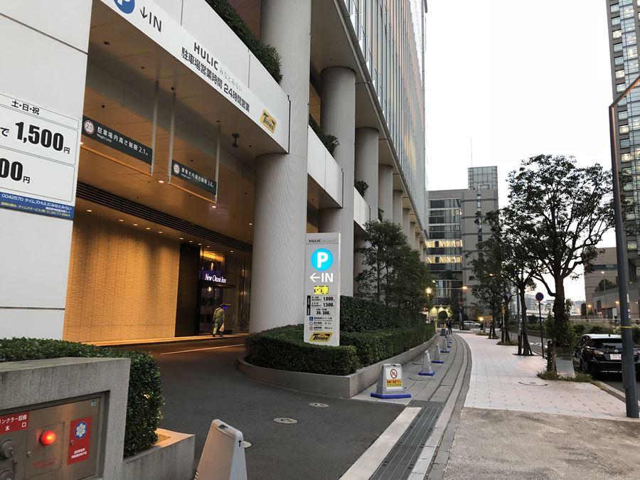 コレットマーレの駐車場入口