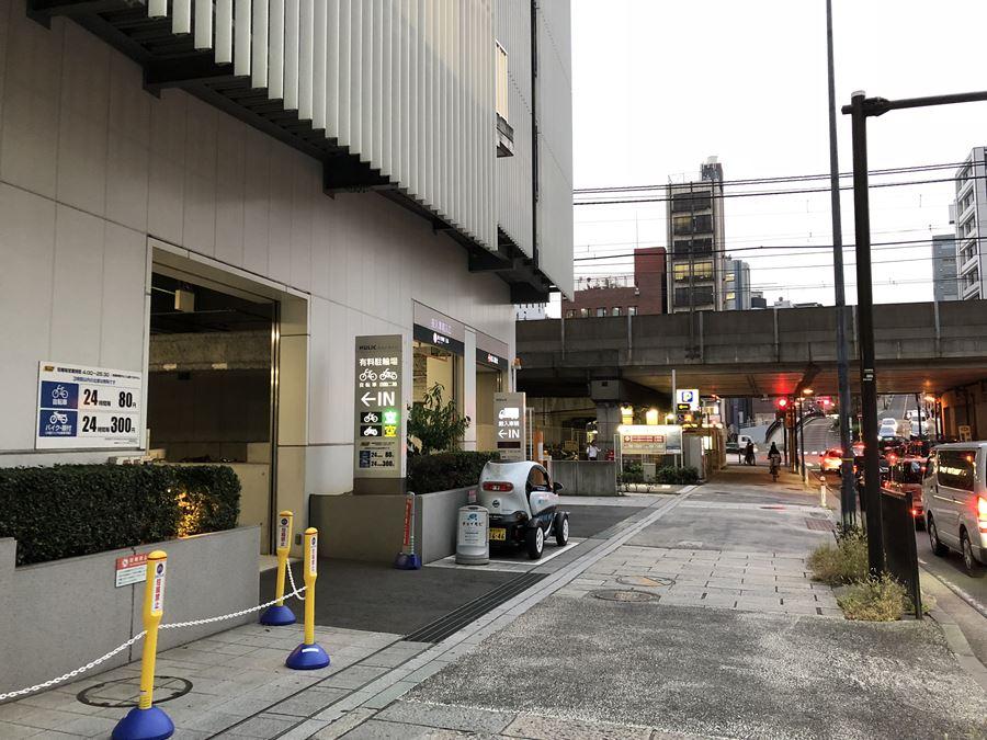 コレットマーレの駐輪場入口