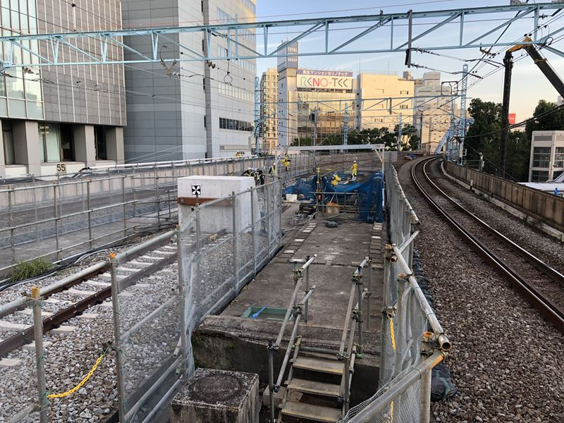 桜木町駅に作られている新しい改札