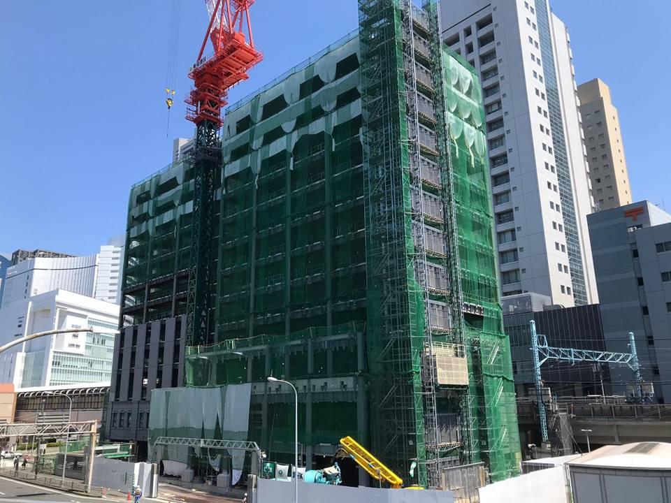 JR桜木町駅ビルの建設工事写真