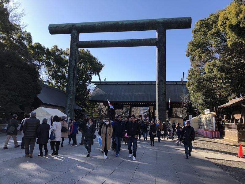 2018年1月3日の靖国神社の第二鳥居