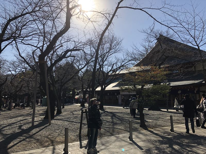 2018年1月3日の靖国神社の様子