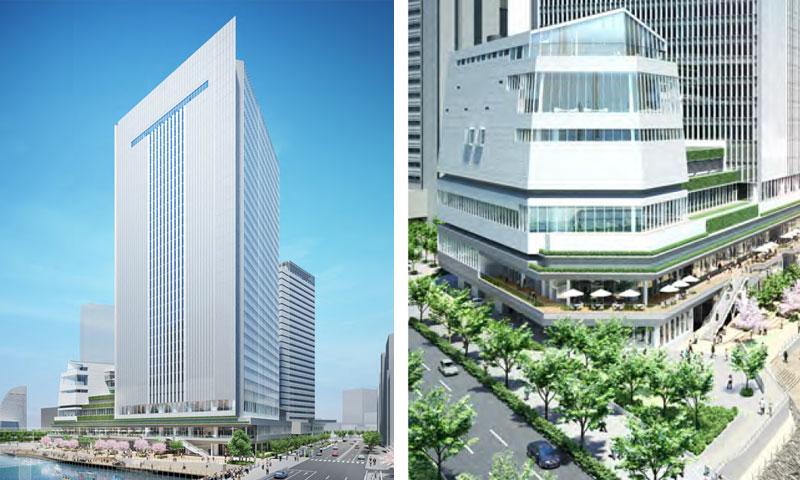 北仲通地区に建設中の横浜新市庁舎