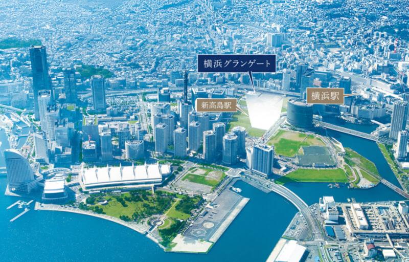 横浜グランゲートのアクセスマップ