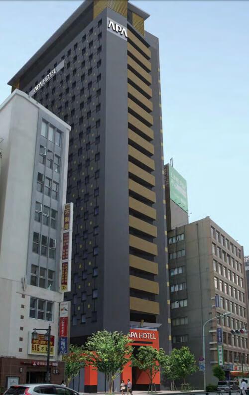 アパホテル〈東新宿 歌舞伎町タワー〉の完成イメージ