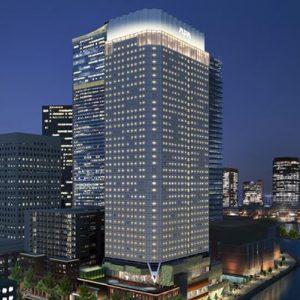 横浜北仲通地区に建設中のアパホテル&リゾート〈横浜ベイタワー〉外観写真
