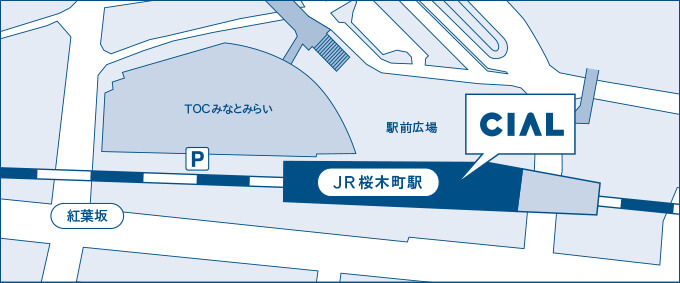 CIAL桜木町駅の駐輪場マップ