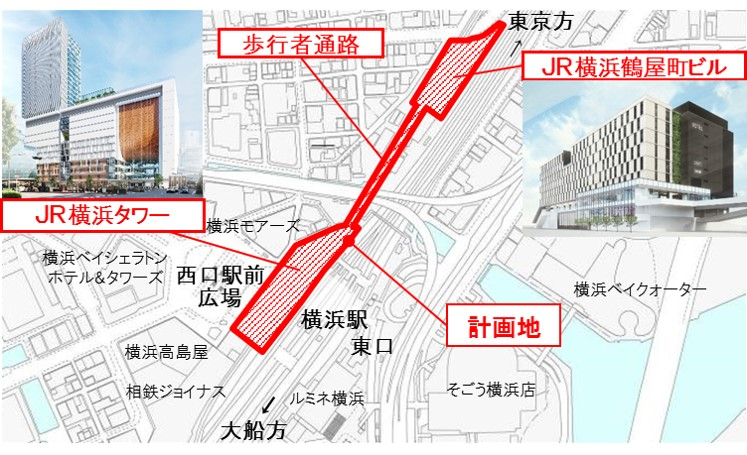 横浜駅の新たなランドマーク「JR横浜タワー」の外観イメージ