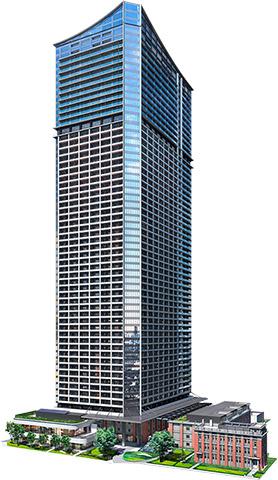 ザ・タワー・横浜北仲の完成予想図