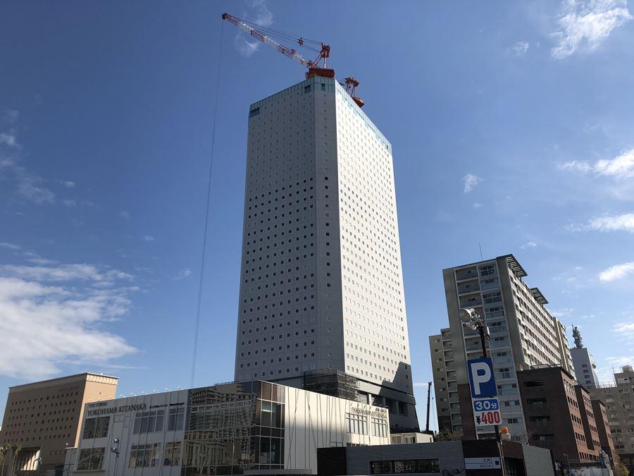 北仲通地区に建設中のアパリゾートホテル