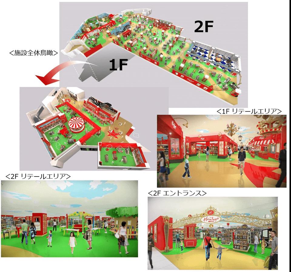 「ハムリーズ 横浜ワールドポーターズ店」のフロアマップ