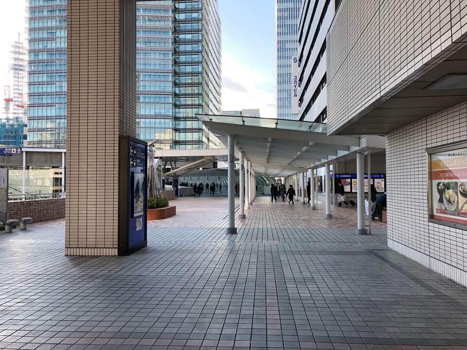 横浜駅東口から原鉄道模型博物館までのルートマップ