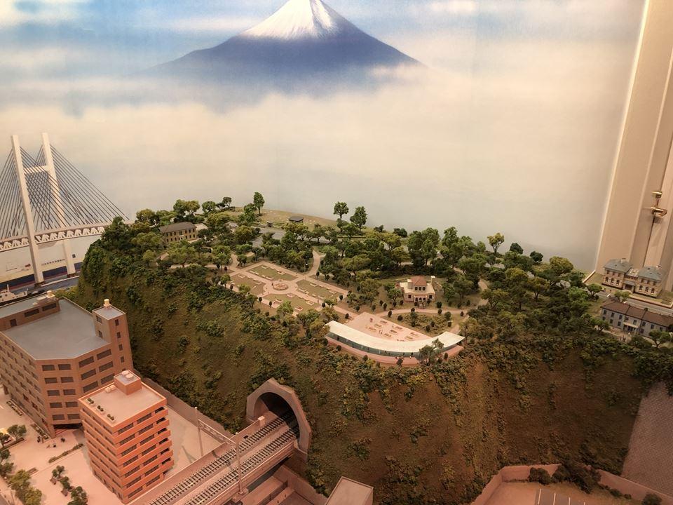 原鉄道模型博物館にある横浜ジオラマの写真