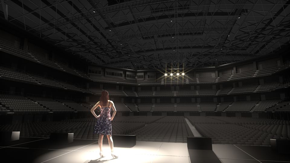 みなとみらいに建設中の音楽アリーナ「MMアリーナ(仮称)」のイメージ写真