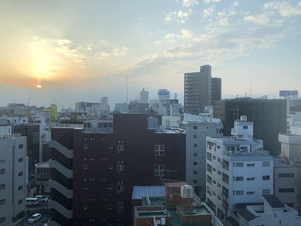 湘南クリスタルホテルの窓から見える景色