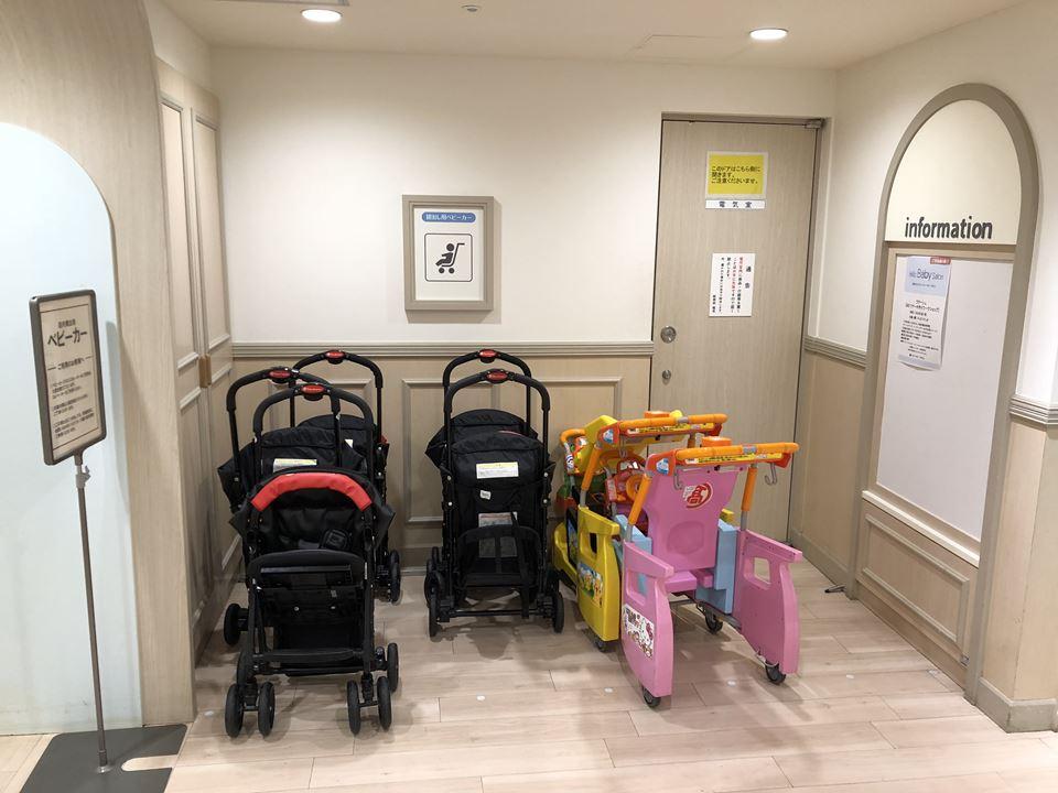 横浜高島屋&Fにあるおもちゃ売り場隣のベビー休憩室