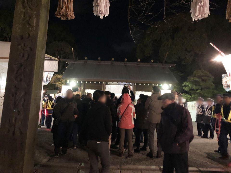 伊勢山皇大神宮の初詣2019の様子