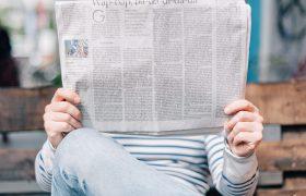 出産祝いにおススメの贈り物:新聞