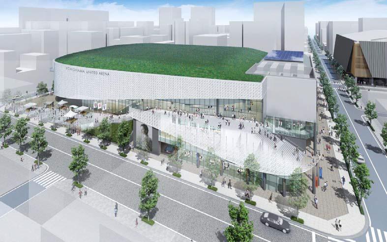 横浜文化体育館再整備事業にて建設を予定されているメインアリーナ施設のイメージ画像