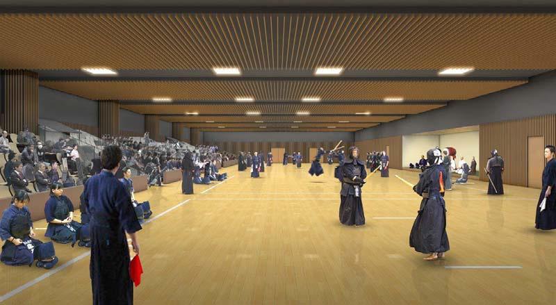 新しく誕生する横浜武道館のイメージ図