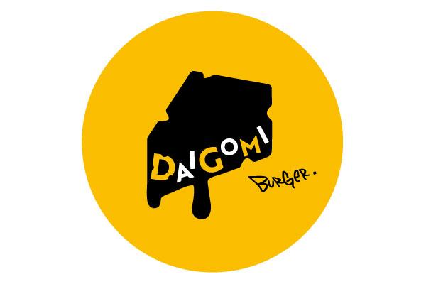 横浜駅東口 POST STREET内に誕生する「DAIGOMI BURGER(ダイゴミバーガー)」のロゴ写真