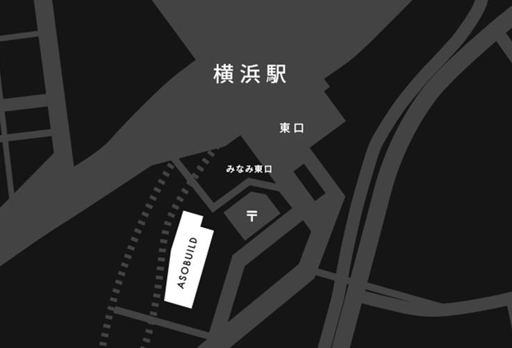 横浜駅東口のアソビルマップ