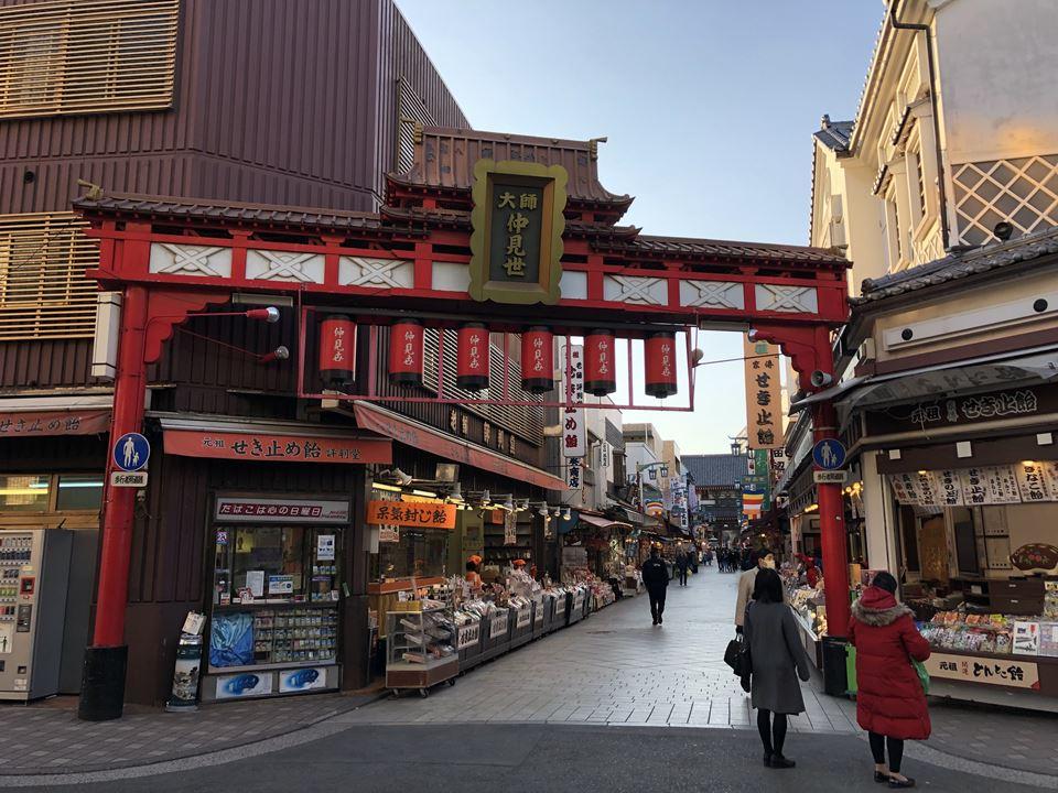 川崎大師表参道の写真