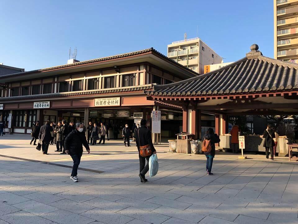 川崎大師平間寺の境内写真手水舎