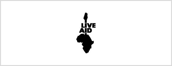 ライブエイドのロゴ
