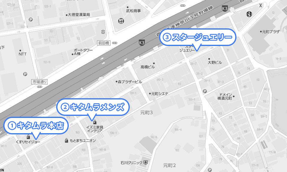 横浜元町ショッピングストリートにあるペットバーMAP