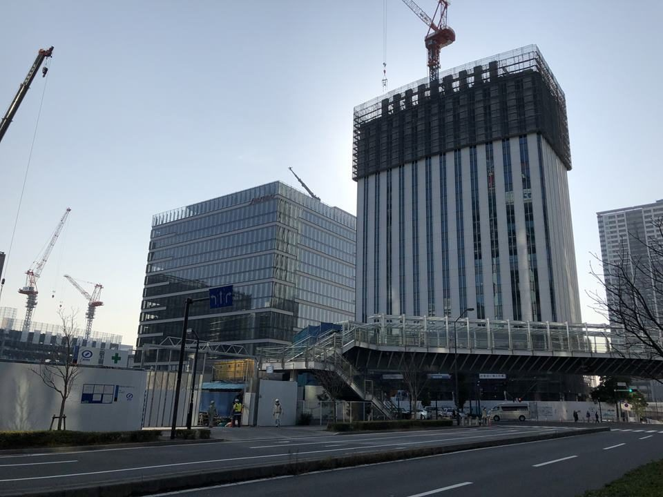 資生堂S/PARK(エスパーク)と京急本社ビル建設工事写真