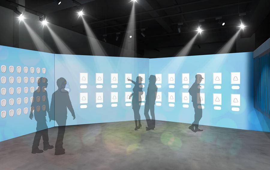 アソビル2Fの常設体験イベントフロア「ALE-BOX (エールボックス)」にできる「うんこミュージアム」にある、うんテリジェンスエリアのイメージ写真